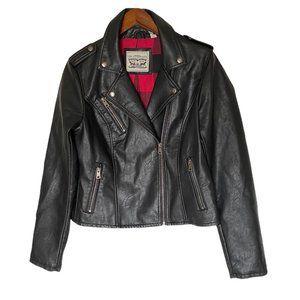 LEVIS Faux Leather Moto Jacket Sz M